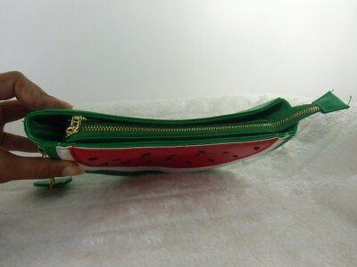 Handtasche tranche wassermelone wassermelone kunstleder grün weiß rot original