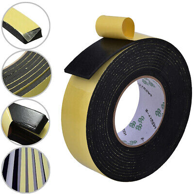 weather Neoprene sponge rubber self adhesive strip 50mm wide x 6mm thick x 5m long noise seal