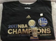 Golden State Warriors 2017 NBA Champs Locker Room Shirt adidas L | eBay