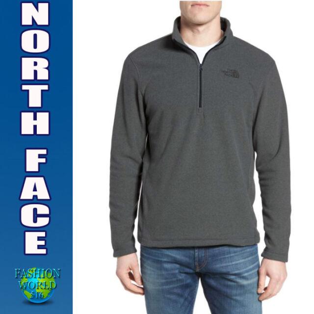 187a1dabcd57 The North Face Men s Size Medium 100 Glacier 1 4 Zip Fleece Jacket Asphalt  Grey