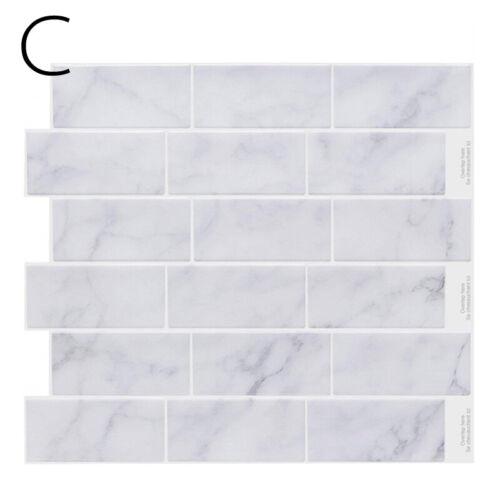 1Pc Peel /& Stick 3D Self Adhesive Mosaic Wall Tile Sticker Kitchen Home Washroom
