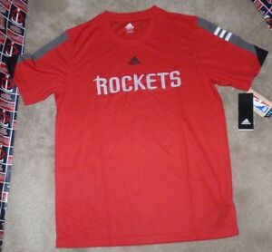new products 3b490 b08ab Details about NEW NBA Houston Rockets Basketball T Shirt Youth Boys ADIDAS  XL 18 NEW NWT