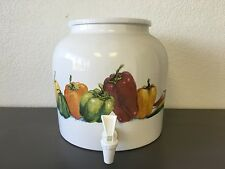 "/""Flying Birds/"" Porcelain Ceramic Water Dispenser Crock with Faucet Free Ship."