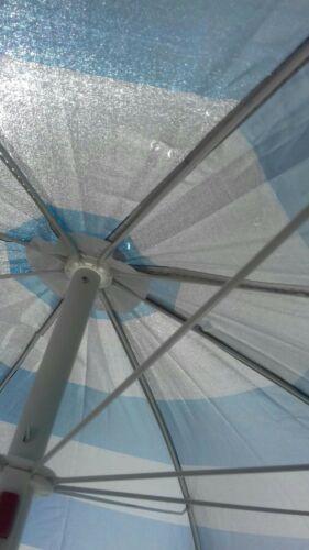 BB-UB126 Tilting Sun Parasol 1.7m Blue Stripe 19//22mm Steel Pole By Redwood