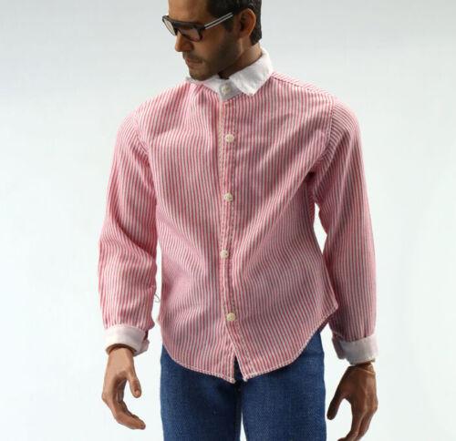 """Tipi di 4 1//6th Da Uomo Maniche Lunghe Camicia Modello per 12/"""" MASCHI Figura Bambola"""