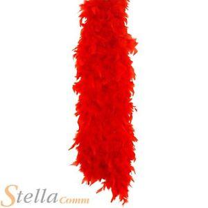 150cm-Rojo-Boa-de-plumas-anos-20-30s-Disfraz-Despedida-De-Soltera-Accesorio