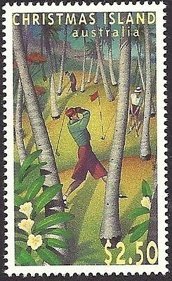 CHRISTMAS IS 1995 40th ANNIVERSARY GOLF COURSE 1v MNH