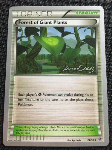 Pokemon TCG 4 X FOREST OF GIANT PLANTS 74//98 World Championship PROMO Uncommon