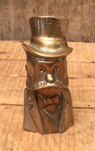 Unique-Rare-Antique-Chromed-Brass-Victorian-Gentleman-Bust-Paperweight-Statue