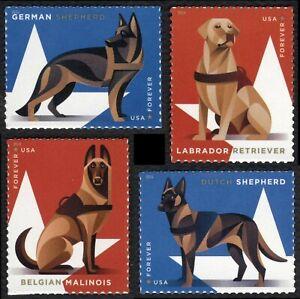 #5405-5408 Militar Laboral Perros, Individuales, Nuevo Cualquier 5=