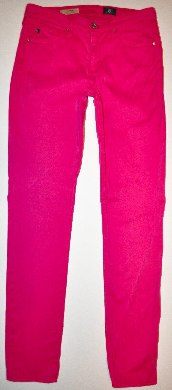 Adriano goldschmied Magenta Prima MidRise Cigarette Jeans Pants 26R X 27 Stretch