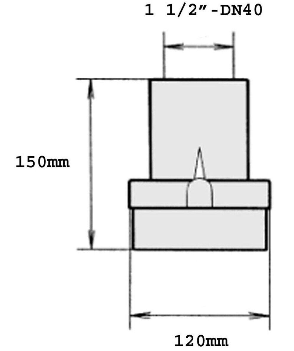 Jung Rückschlagklappe 1 1 1 1 2  DN40 US 73 103 153 Schmutzwasserpumpe Tauchpumpe 44b5d2