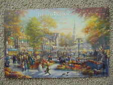 THE PUMPKIN FESTIVAL GREAT AMERICAN CELEBRATIONS, THOMAS KINKADE STUDIO POSTCARD