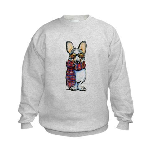 CafePress Cool Corgi Sweatshirt Kids Sweatshirt 1293942680