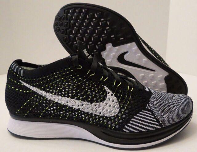 fad4accbb34 Nike Flyknit Racer Zapatillas para Correr Oreo White Black Volt Grey  526628-011