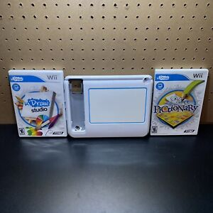 Wii - U Draw Drawing Board and 2 Games: Pictionary and U Draw Studio - Tested