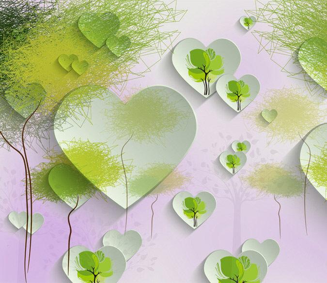 3D Cœur Feuille 93 Photo Papier Peint Peint Peint en Autocollant Murale Plafond Chambre Art 467a23