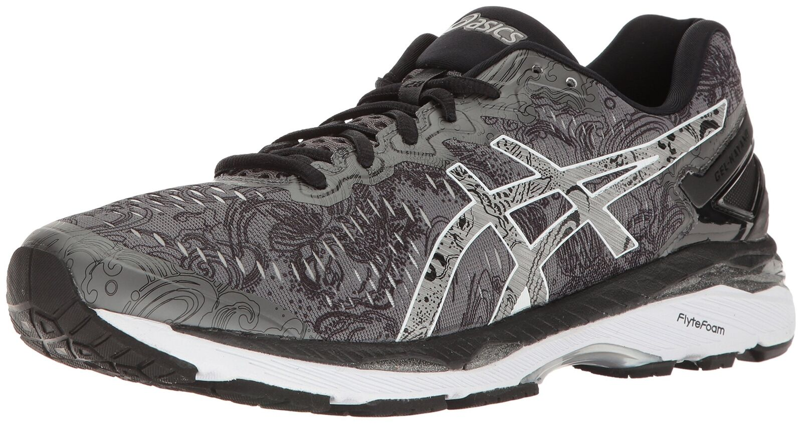 ASICS Men's Gel-Kayano 23 Lite-Show Running shoes, Carbon Silver Reflective, 6...