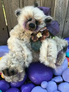BREEZE-Artist-Mohair-REDLAND-Teddy-Bears-Purple-AirBrushed-Excelsior-M-Hudson