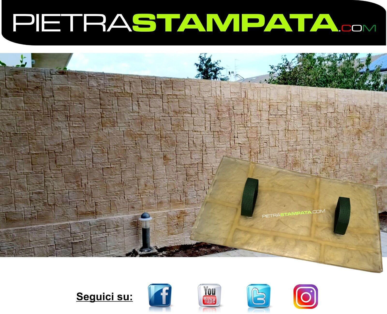STAMPO per intonaco stampato FINTA PIETRA muro stampato Vertical Concrete Mold