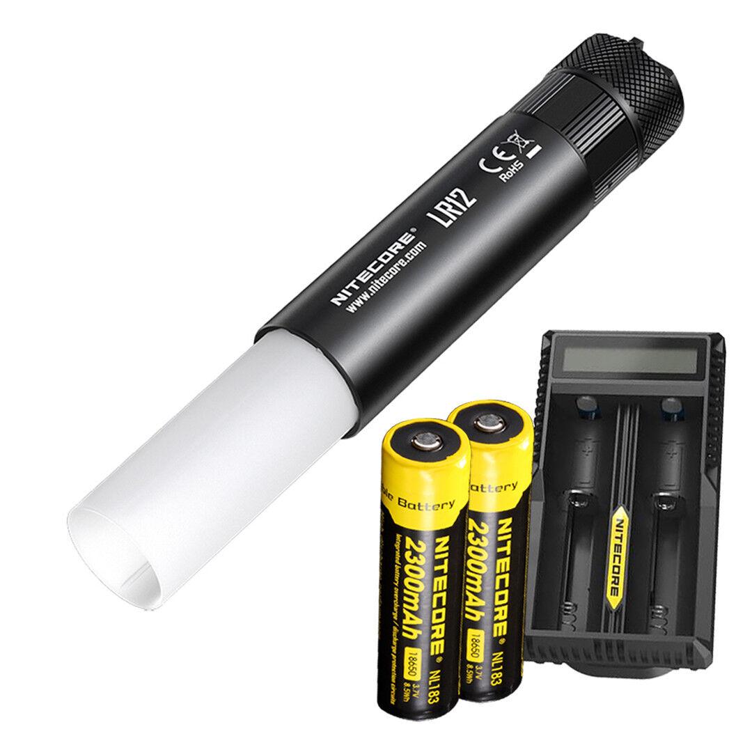NITECORE LR12 1000 lm Lanterne Lampe de poche avec deux piles et chargeur