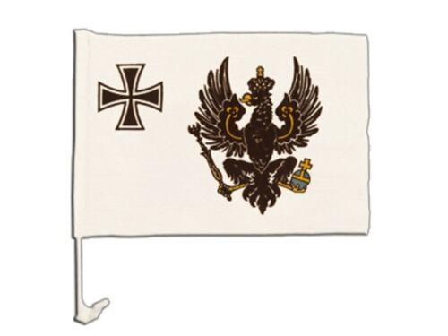 LA PRUSSE GUERRE DRAPEAU 1903-1920 Autofahne Autoflagge Drapeaux Voiture Drapeaux 30x40cm