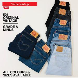 Vintage-Levis-Levi-501-grado-a-menos-Jeans-Hombre-Denim-W30-W32-W34-W36-W38-W40