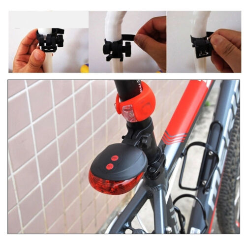 Bicycle 2 Laser Projector Red Lamps Beam and 5 LED 7Mode Rear Cycling Tail Light