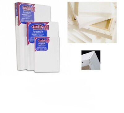 "5/"" x 5/"" mini stretched canvas DCAA-450 square artists primed canvas 2 6 or 12"