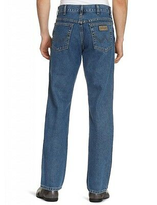 Wrangler Classic Texas Regular Fit Zip Fly Jeans Stonewash
