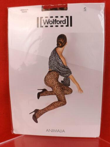65 9009101453785 NWT Black Austria Collant Collant Animalia Leopard Wolford Sahara UAfFHq