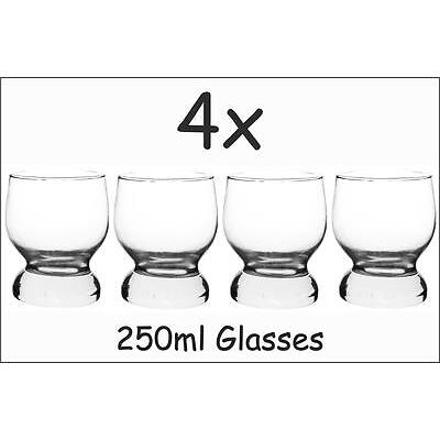4x Drink Glasses Set Brandy Whiskey Dinner Tumbler Glassware Cups Scotch Dining