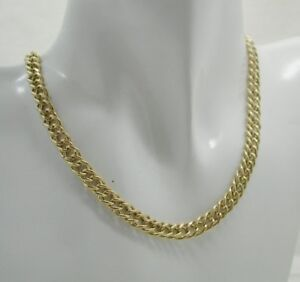 Vintage-Gents-Ladies-9-Carat-Gold-Double-Curb-Link-Neckchain-16-Inches
