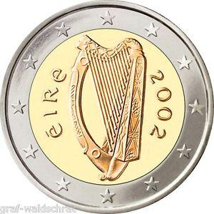 2 Euro Irland Ab 2002 Alle Jahre Unc Frei Wählbar Ebay