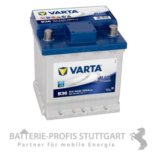 Varta Autobatterie 12V 44Ah 420A B36 ersetzt 40Ah