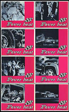 STOCK CAR AUTO RACING/DEMOLITION DERBY original 1968 lobby card set movie poster