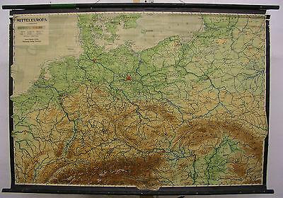 Schulwandkarte Schone Alte Deutschlandkarte 1946 Gedruckt 124x86cm