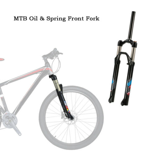 """26/""""Bicycle Front Fork MTB Bike Cycling Air Suspension Oil//Spring Front Fork U4K0"""