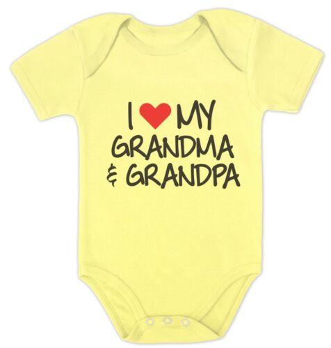 Me encanta mi ABUELO /& ABUELA Grandkid Bebé Ducha Regalo Bebé Body abuelos