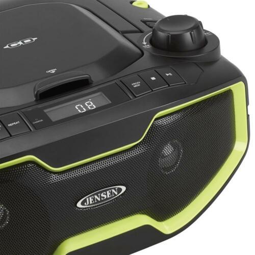portable stereo mp3 cd player with digital am//fm radiojensen lcd display new