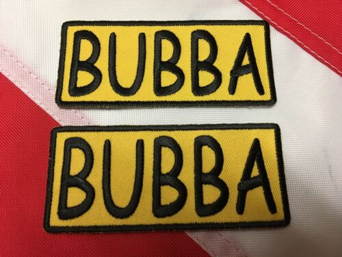 PATCH BUBBA gold /& yellow gift idea stocking stuffer u get 2 patches #665