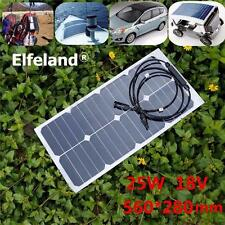 Elfeland 25W 18V Mono Solar Panel Class-A Sunpower Battery Charger For Camping