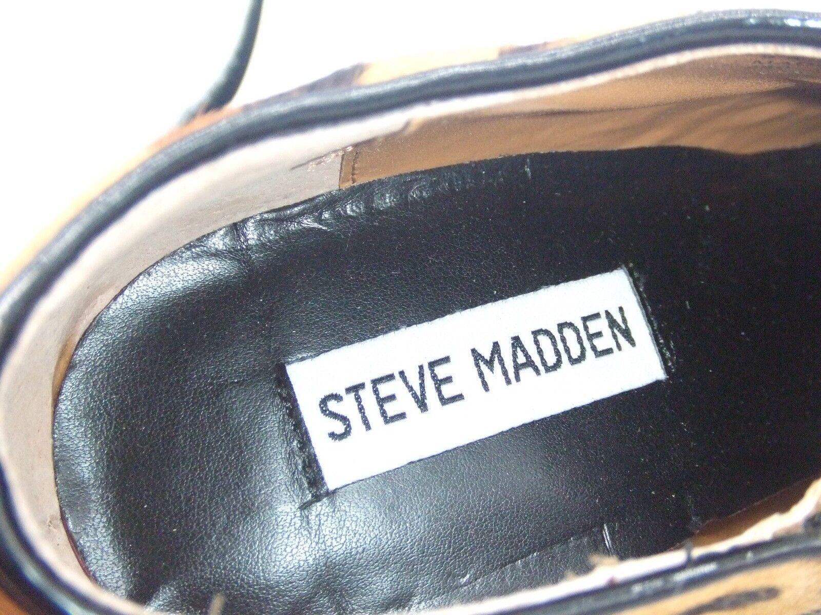 Steve Madden Talla 7 7 7 40 Vipper Estampado De Leopardo botas al Tobillo De Piel de poni de Cuero Real BN 90696c