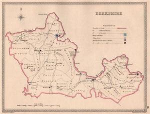 Berkshire Antique County Map By Creighton/walker. électoral 1835 Old-er. Electoral 1835 Old Fr-fr Afficher Le Titre D'origine