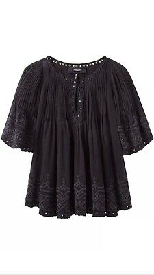 Auth. ISABEL MARANT Berit Blouse Size 38 Black MINT