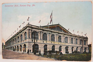 Convention-Hall-Kansas-City-1913-Boring-USA-Postcard-Ak-Postcard-A2428