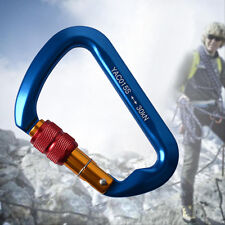 30KN Professional Carabiner Screw Locking Aluminum Steel Outdoor Rock Climbing