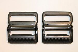 "Military Web Strap Tongueless Hinge Buckle, 1 1/2"", Mil-Spec, Black. Lot of 2,"