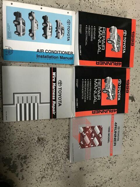 1999 Toyota 4runner Suv Shop Service Repair Manual 2 Vol Set Sr5 Limited V6 4wd