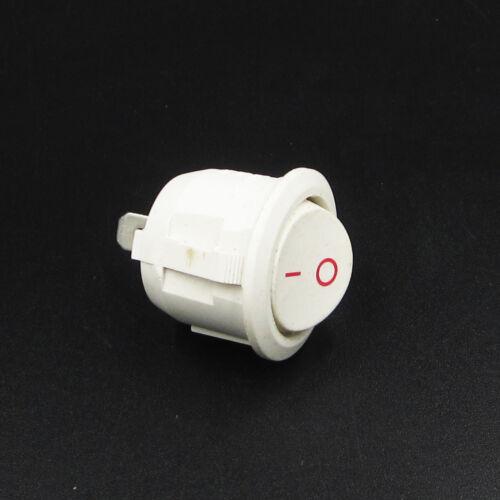 10PCS KCD1-105 White 2Pin Rocker Power Switch 6A 250V 10A 125V ON-OFF ASS